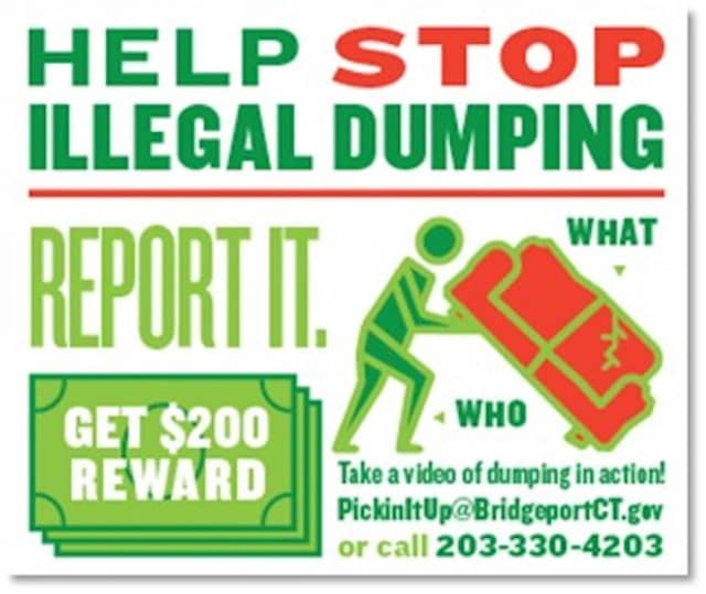 Bridgeport Mayor Joe Ganim is putting illegal dumpers on notice. There's a new incentive to catch you in the act.