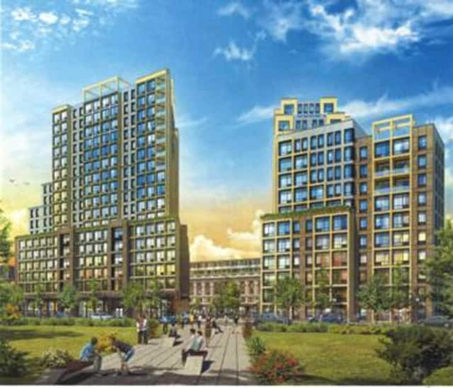The plan includes a proposal to construct a new residential tower with studios to three-bedroom apartments.