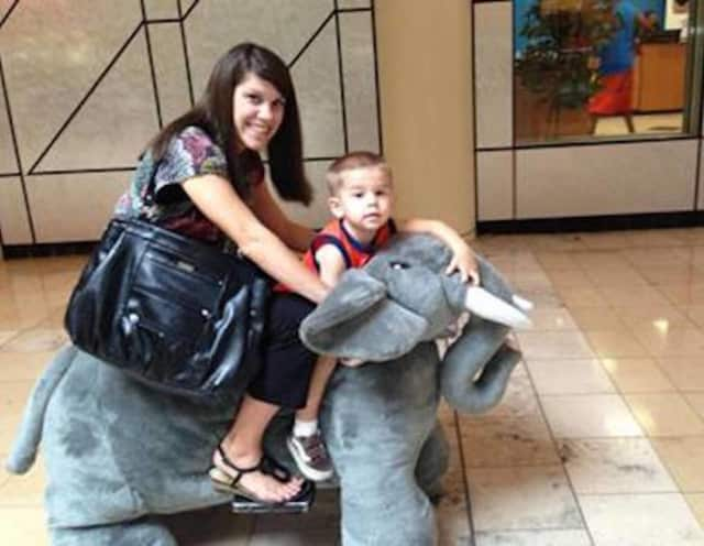 Little visitors to the Jefferson Valley Mall during the holiday season will be able to enjoy rides on stuffed animals of all kinds.