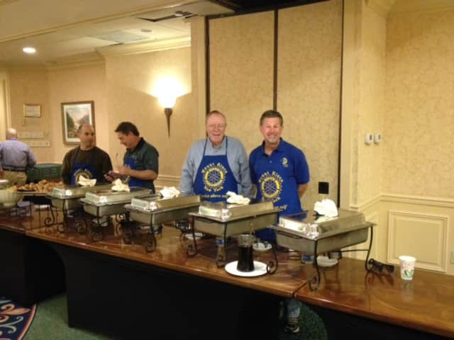 The Mount Kisco Rotary Club's annual Pancake Breakfast fundraiser was held on Halloween at the Holiday Inn, Mount Kisco.