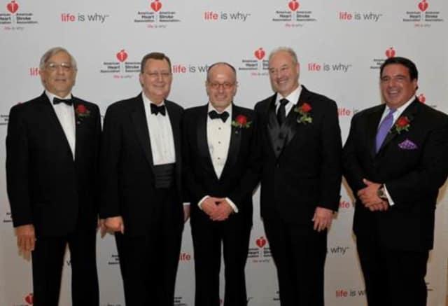 From left to right: Robert L. Berkowitz, M.D., Joseph Parrillo, M.D., Carlos Ruiz, M.D., Robert M. Kipperman, M.D., Robert J. Hariri, M.D.