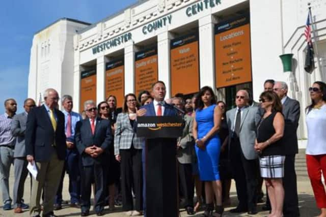 County Executive Rob Astorino was joined by leaders in business, real estate, labor, construction and education at the County Center on Tuesday.