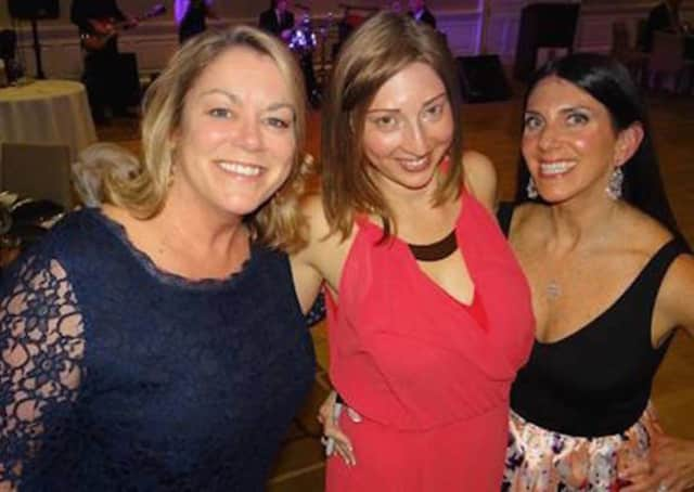 Gala adviser Susan Ludwig, gala chair Jamie Braden and Junior League of Eastern Fairfield County President Samantha Collin at the 95th annual Anniversary Gala April 2.