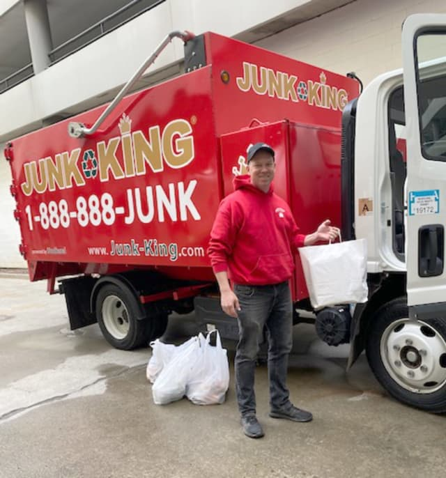 """If there's another nonprofit or local business who wants to partner, I'm raising my hand!"" said Tom McCabe, owner of Junk King Tri-County."