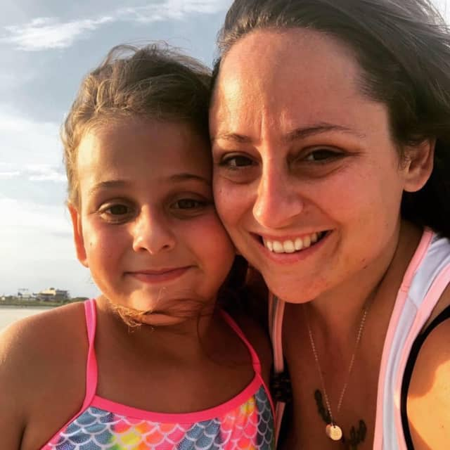 Jenn Polizzano-Demaria with her daughter, Sophia