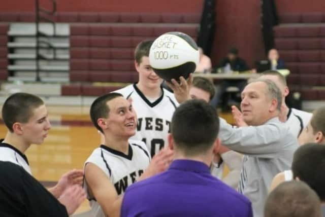 John Finke has spent 28 seasons as head coach of the West Milford High School boys' basketball team.