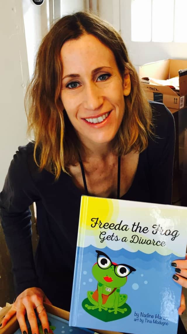 "Nadine Shanker Haruni and ""Freeda the Frog Gets a Divorce."""
