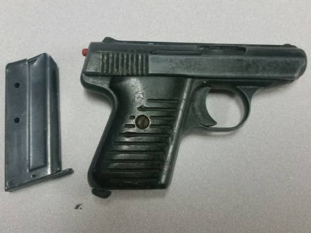 The gun was reported stolen out of Florida in February 1987, Passaic County Sheriff Richard Berdnik said.