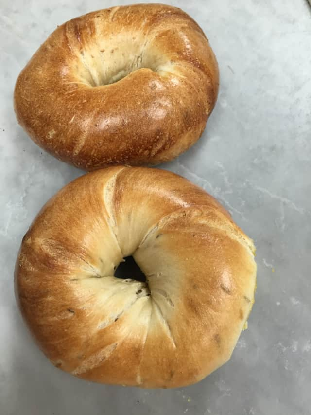 Nyack Hot Bagels is known for its hand-rolled bagels.