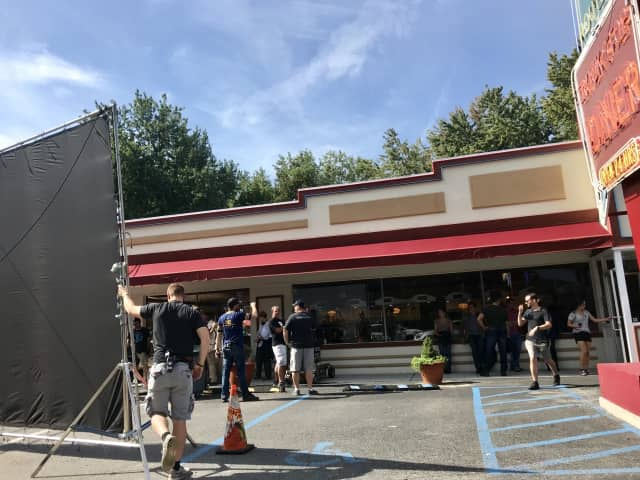 A Netflix show is being filmed at DD's Diner in Ossining.