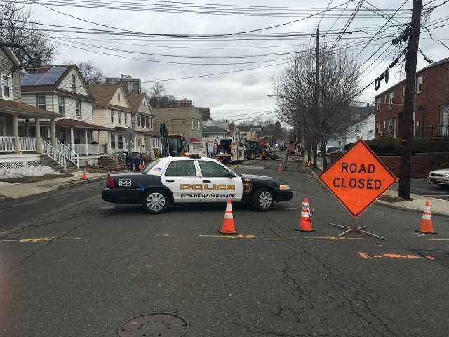 Several Hackensack roads were closed for construction
