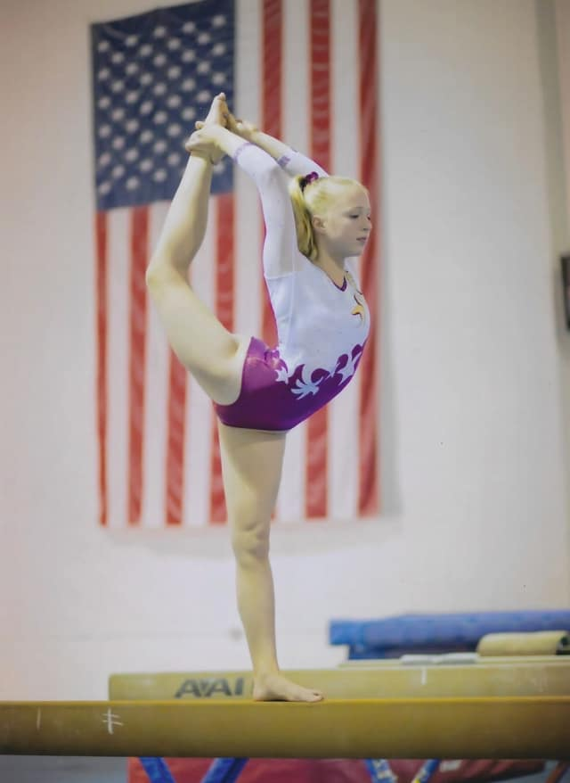 Jennifer Kruszewski of Wayne took home first place at the Xcel State Championship hosted by USAG-New Jersey.