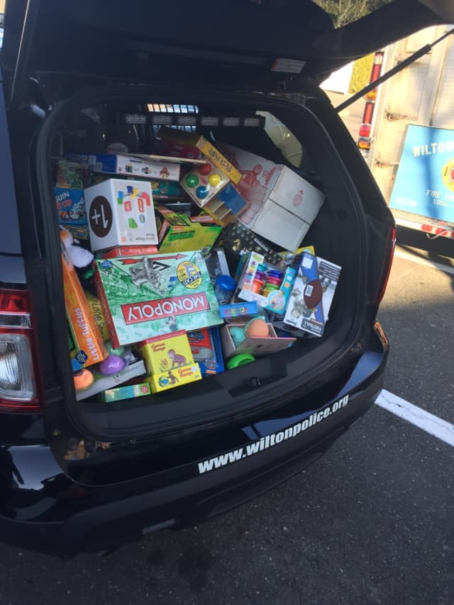 The recent Stuff a Cruiser event in Wilton benefited Toys for Tots.
