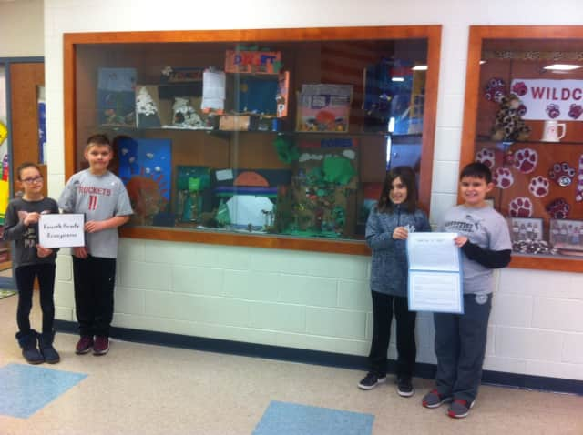 Fourth-graders at McKenzie School Participate In ecosystem project.