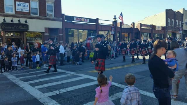 """Harrison residents showed support for their town at the annual """"It's Great to Live in Harrison"""" parade."""