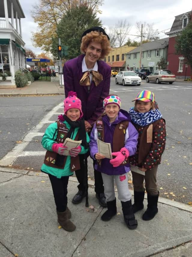 Willy Wonka visits with young fans at last year's Red Hook and The Chocolate Festival event.