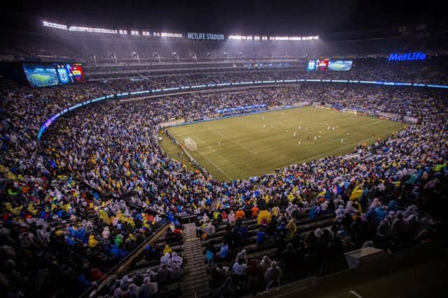 MetLife Stadium hosted the Argentina vs. Ecuador soccer match in March. Officials announced Thursday that the stadium will host games from the Copa America Centenario tournament.