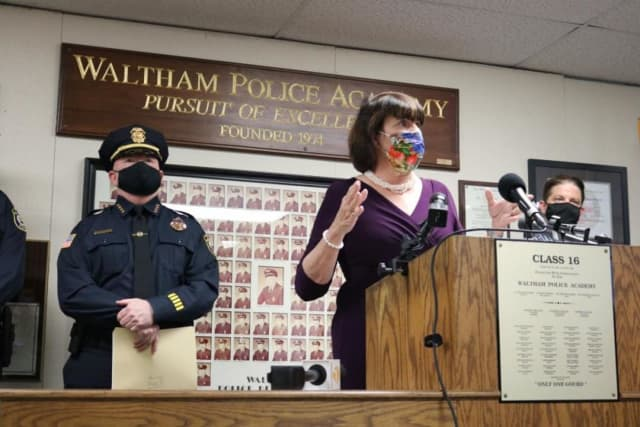 """Middlesex District Attorney Ryan said the """"reign of terror"""" is over in Waltham."""