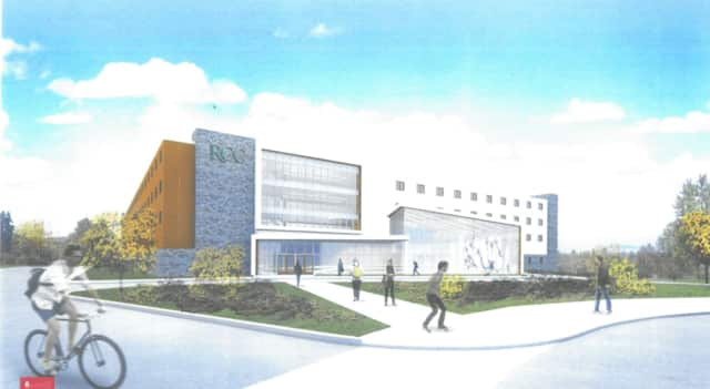 A rendering of what the proposed residence hall will look like at Rockland Community College.