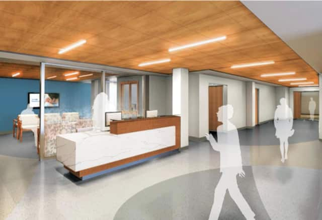 A rendering of the hospital's new Welcome Center.