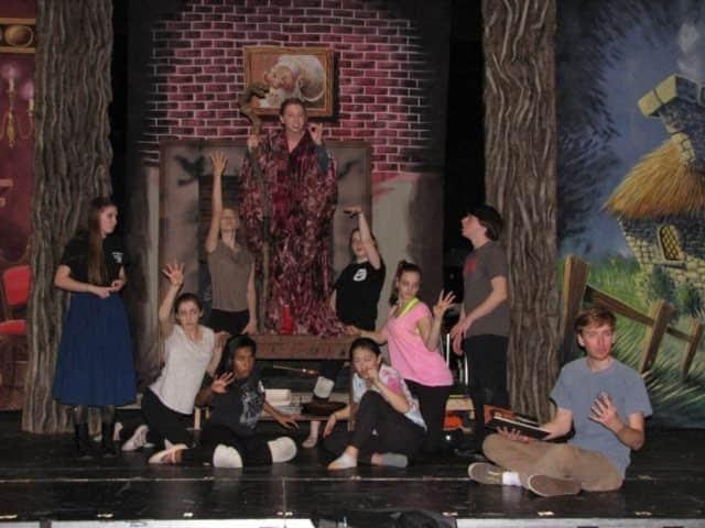 From left: Jenny Daly, Alexis Smith, Lauren Smith, Grace Rucci, Audrey Kirkpatrick, Allison Demers, Niki Orndahl, Kaitlyn Piotroski, Jacob Freedgood, Griffin Hall.