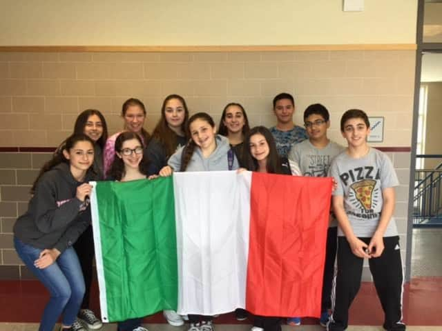 These Eastchester Italian students recently took a competitive national Italian exam.