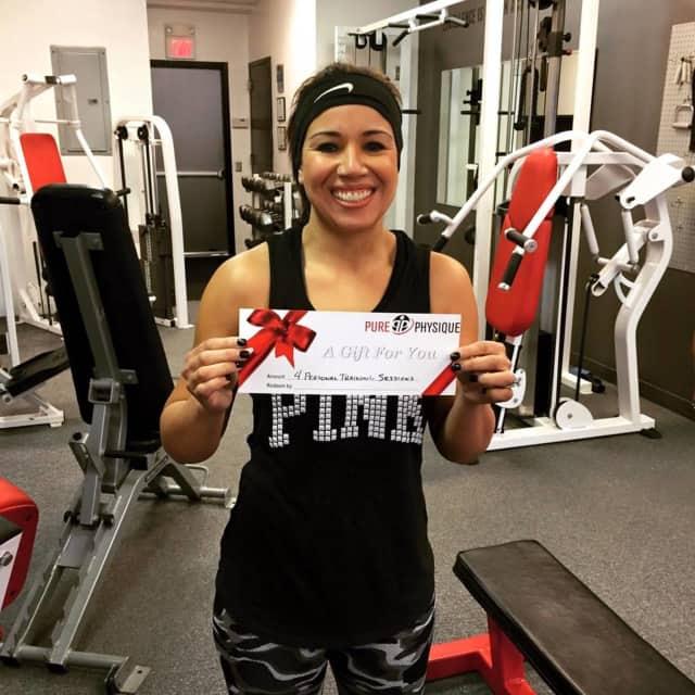 The big winner of the Pure Physique Kickstart Challenge Mariyel Fava.