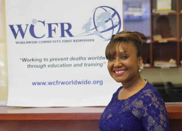 Jackie Cassagnol of Spring Valley started Wordwide Community First Responder in 2011. The organization provides free training for first aid and health education classes.