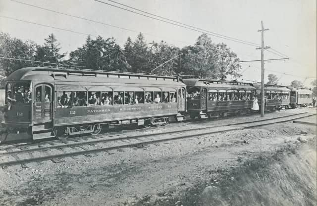 The North Jersey Rapid Transit trolley line transported Bergen County travelers from 1910 to 1928.