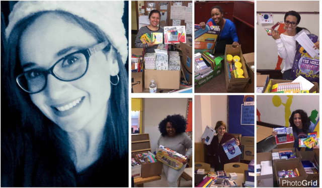 Jahaira Ortiz Olowe donated thousands of school supplies to teachers in Paterson, Clifton, Englewood and the Bronx.