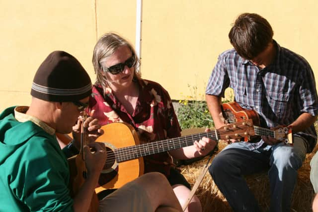 Bring your voice -- and instruments, if you've got them -- to a folk-song session on on April 16.