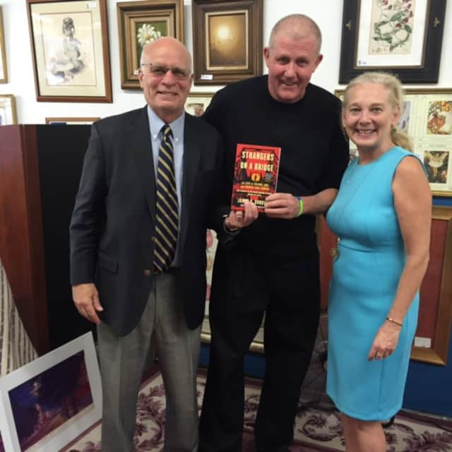 Beth Amosori and John Donovan discussed author James B. Donovan at a recent Habitat for Humanity of Westchester event.