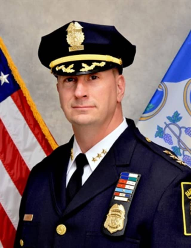 Hartford Mayor Bronin said while Police Chief Jason Thody (pictured) did drive recklessly on May 31, the incident has not caused him to lose faith in the chief.