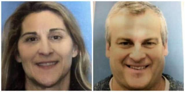 The son of Jeannette and Jeffrey Navin, above, has been arrested on federal firearms charges. He has been named a person of interest in the disappearance of his parents, who lived in Easton.