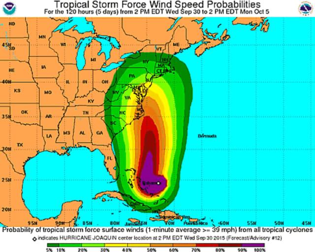 Hurricane Joaquin will bring damaging winds.