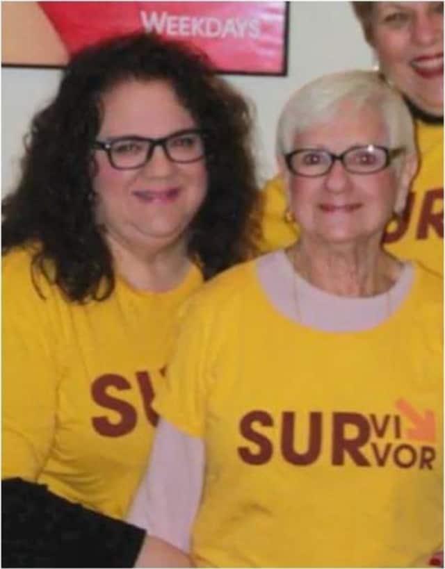 Jodi Del Vecchio, left, and her mother are breast cancer survivors.