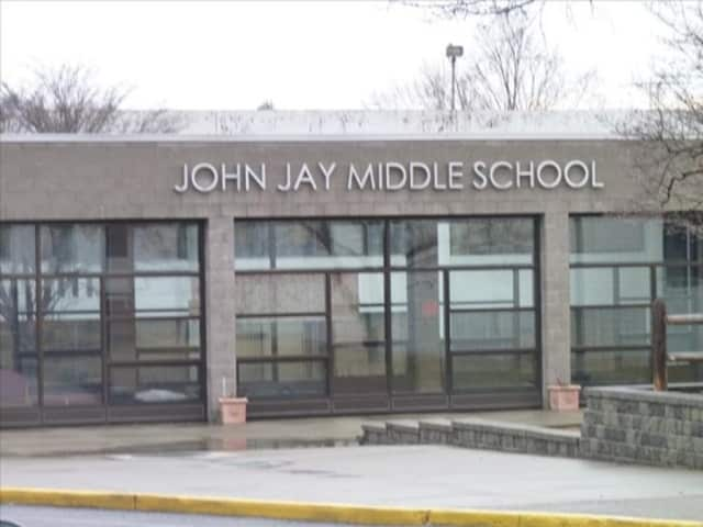A small fire at John Jay Middle School did not damage the school.