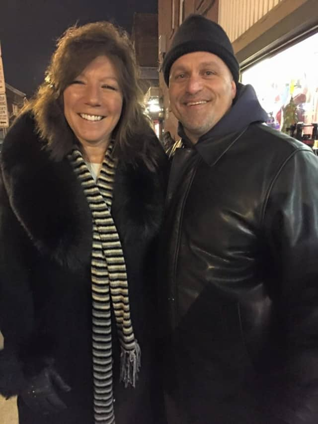 State Sen. Sue Serino, a Democrat from Hyde Park, with Anthony Eack of Hopewell Junction, who helped organize Saturday's rally in downtown Poughkeepsie to raise awareness about heroin addiction and recovery programs in Dutchess County.