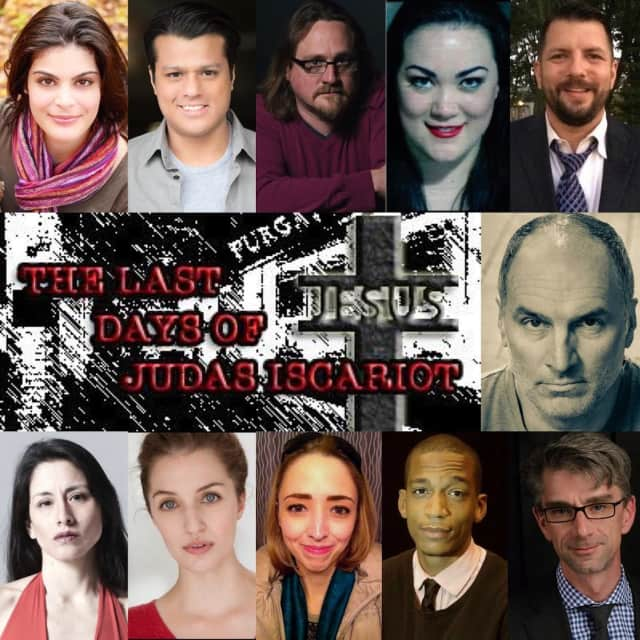 "The cast of the Vagabond Theatre Company's production of ""The Last Days Of Judas Iscariot"" running March 17 to 26 at Blackbox Theater, Performing Arts Center Of Connecticut,"
