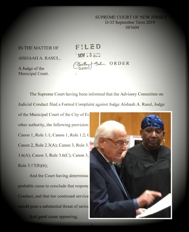 Congressman Bill Pascrell swears in Aishaah Rasul as Englewood  Municipal Court judge last November.