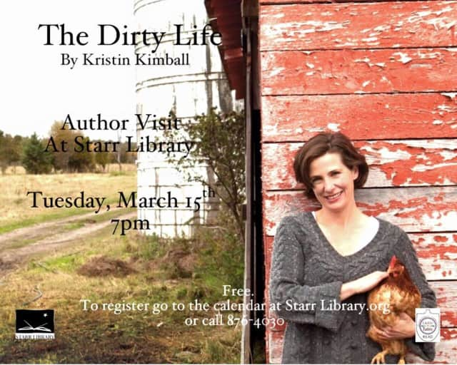 Author Kristin Kimball will sign copies of her book at the event.