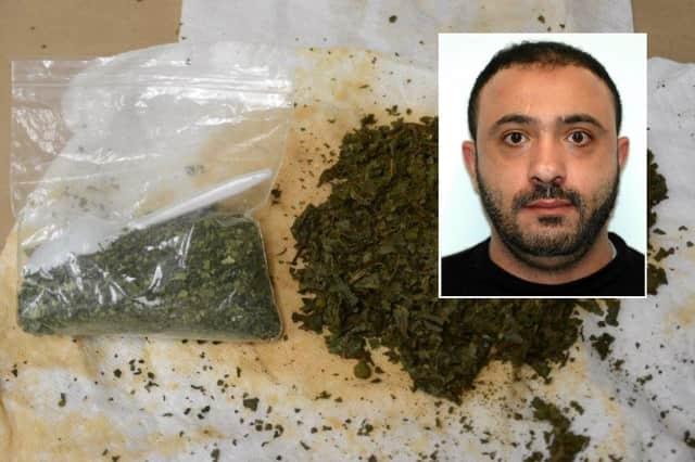 INSET: Alhussain Ali Ashabi. Paramus police seized the khat and the cash.