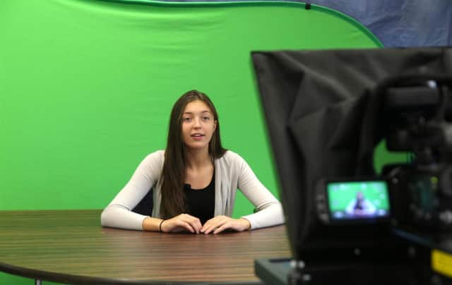A news media outlet is run by Westlake High School broadcast class students.