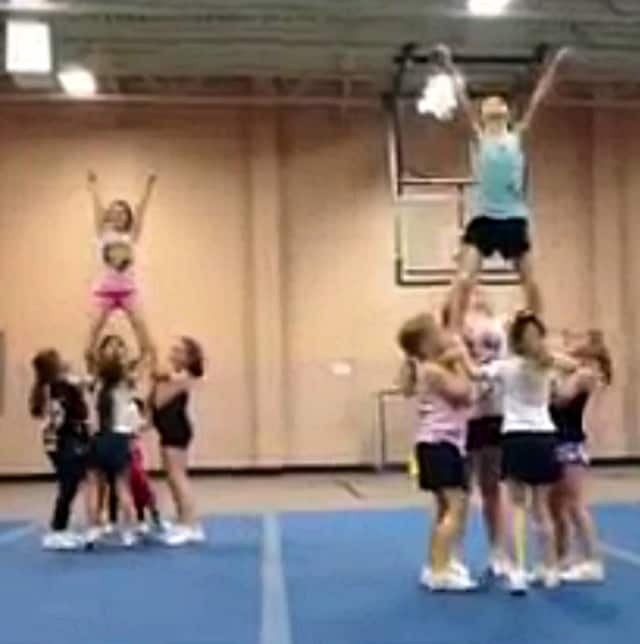 Cheerleading practice will be starting soon.