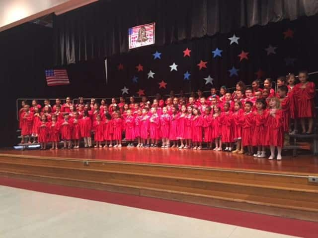 The West Haverstraw Elementary School kindergarten class takes the stage for a special celebration.
