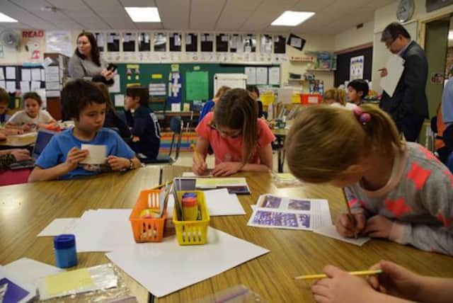 Students at Bronxville Elementary School are being observed by teachers as part of a long-term, collaborative professional development to improve lessons.