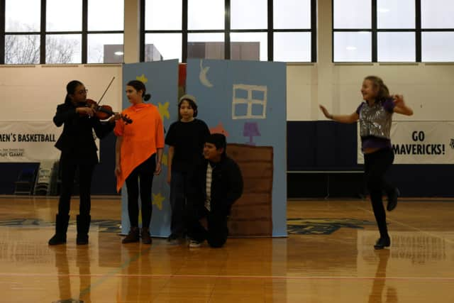 Students of Lakeland Central School Districts' Destination Imagination teams perform March 5 at the tournament.