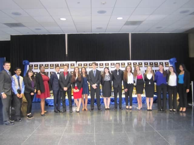 These Lakeland High School students of Future Business Leaders of America competed in a statewide competition in Rochester in April.