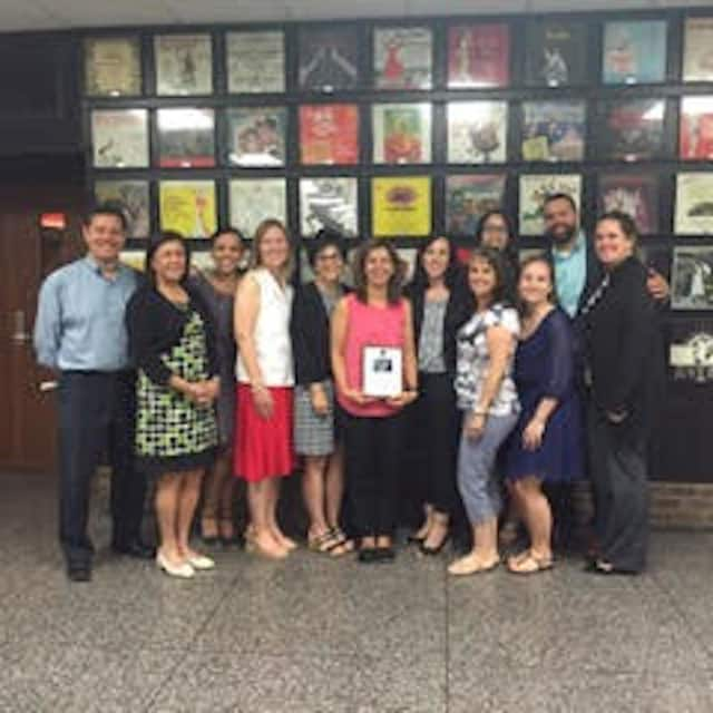 WIPRO Science Education fellows,from left, Enrique Tovar, Rosa Taylor, Judy Diaz, Karla Purcell, Lucille Cappello, Elsy Gonzalez, Maria O'Brien, Felicia Knox, Jasmine Martinez, Katherine Hohman, Bryant Romano, and Dr. Meghan Marrero are shown.