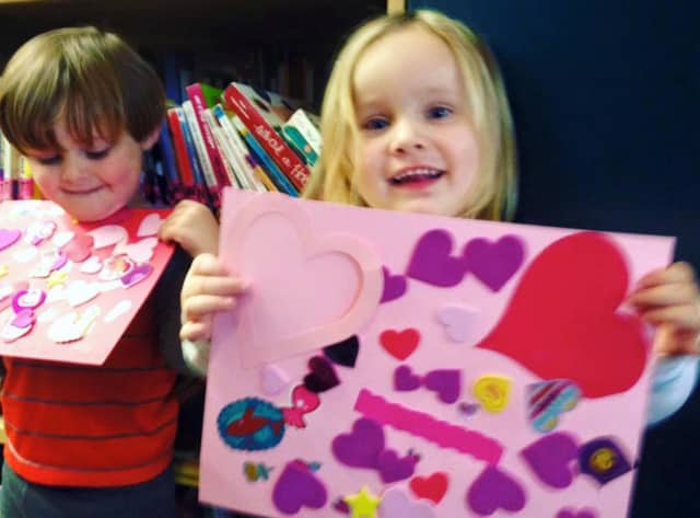 Make a Valentine craft at the Rutherford Library.